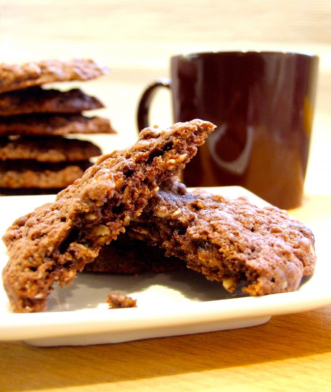 Easy Double Chocolate Muesli Cookies by Family, Friends, Food