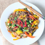 Sweet Chilli Salmon Stir Fry Noodle Bowl