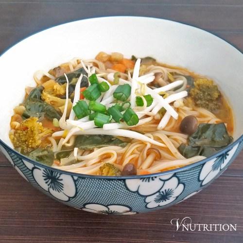 Leftover Veggie Noodle Soup by V Nutrition & Wellness
