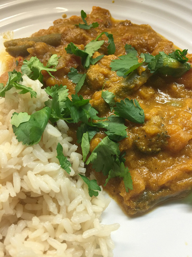 Slow Cooker Vegetable Curry by The Baking Queen