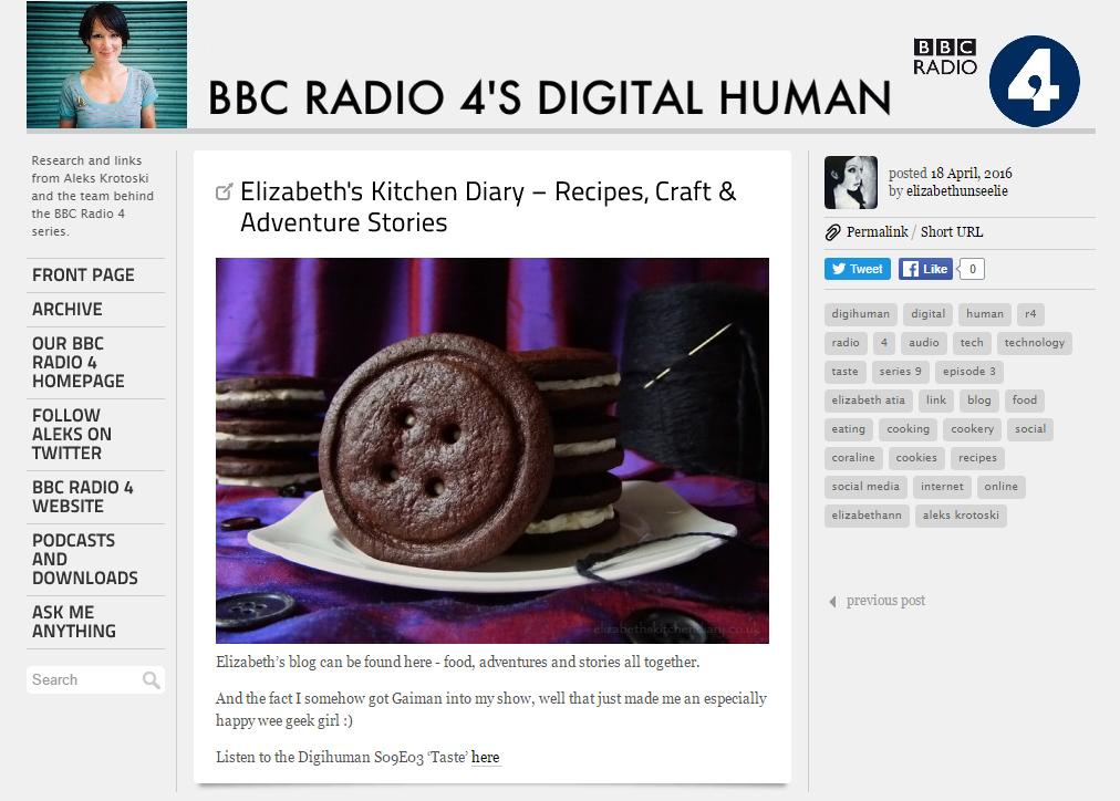 BBC Radio 4 Digital Human: Taste
