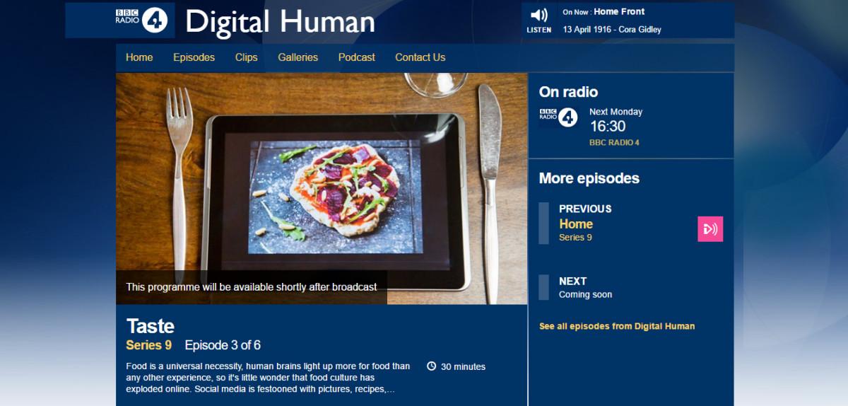 Digital Human Taste
