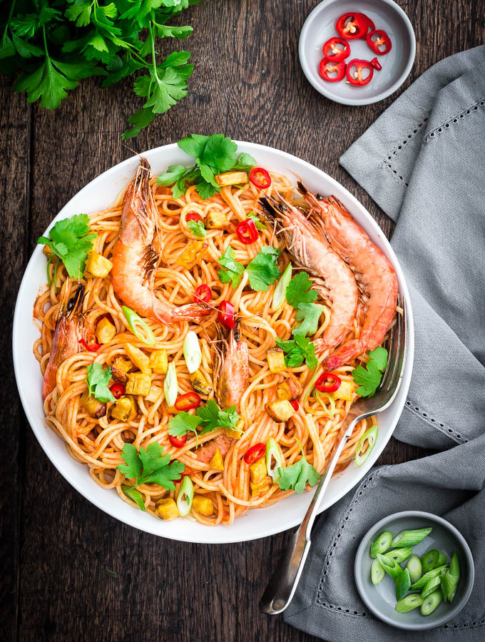 Jollof Spaghetti by Recipes from a Pantry