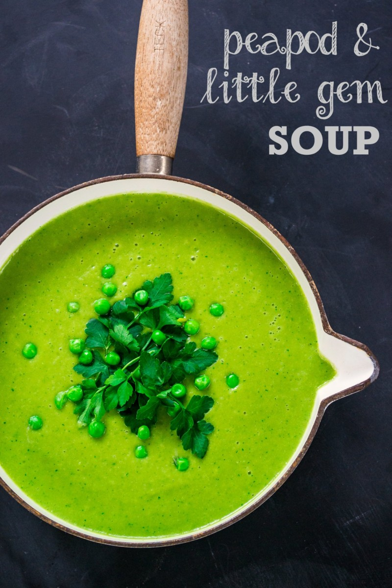Peapod and Little Gem Soup