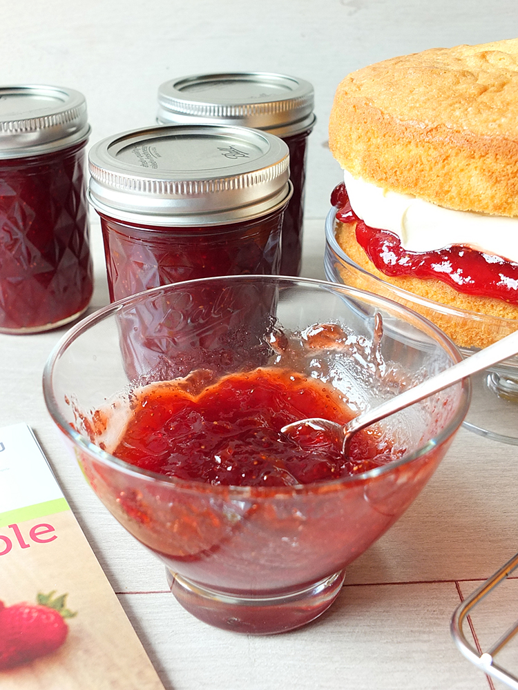 Strawberry Balsamic Jam - recipe made in the Ball Automatic Jam & Jelly Maker
