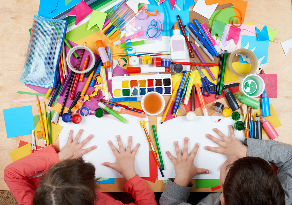 Kids Crafting (image via Shutterstock)