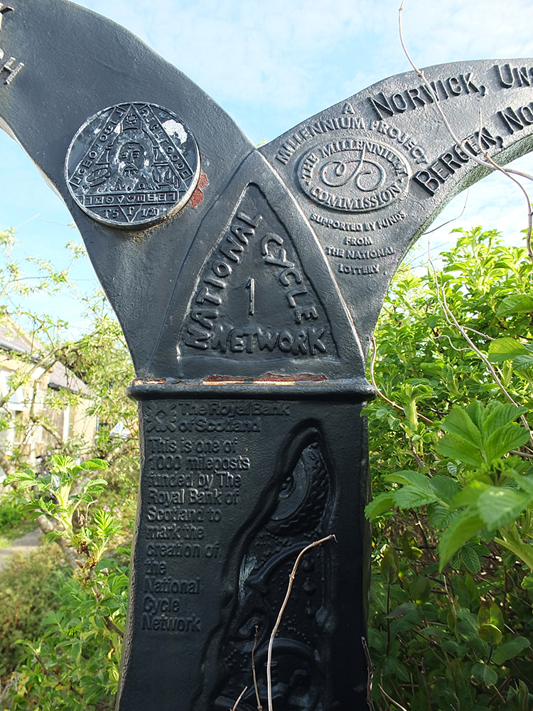 National Cycle Network 1 - Millenium Milepost Shetland