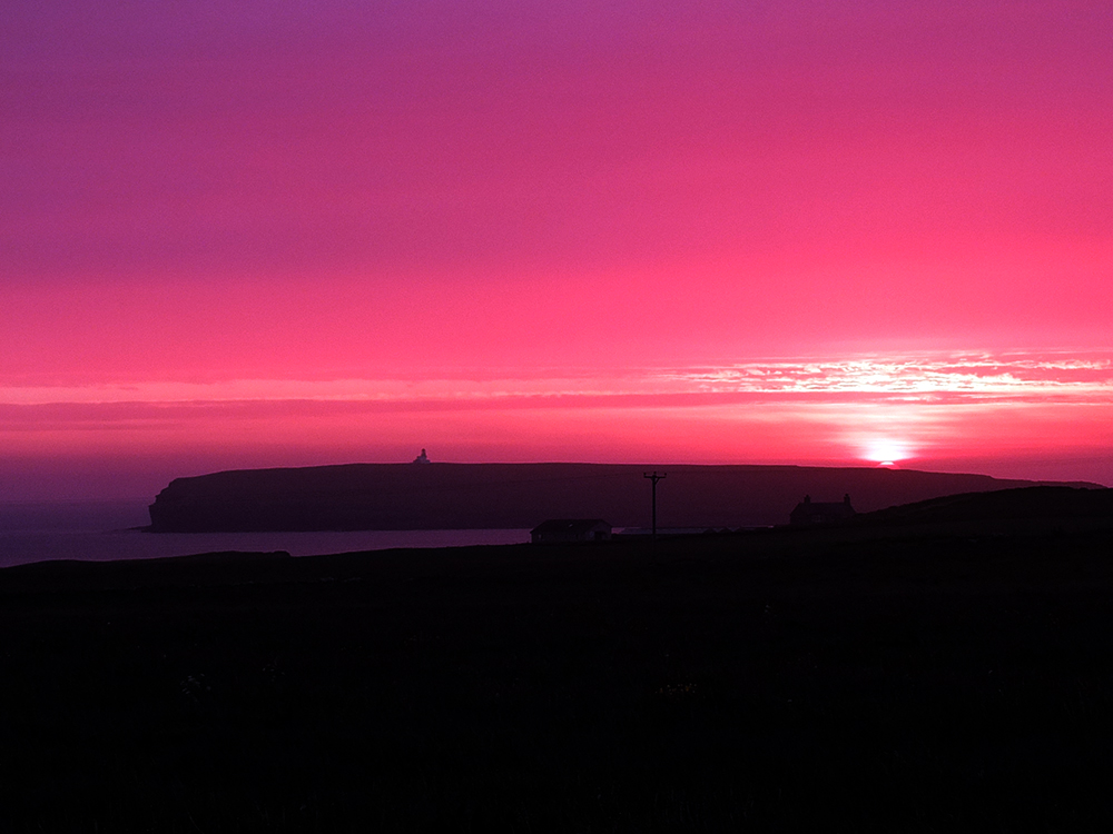 Orkney Sunset over the Brough of Birsay