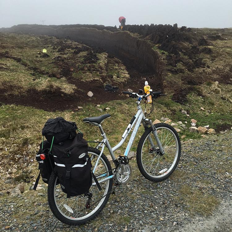 Raising Peats in Yell, Shetland