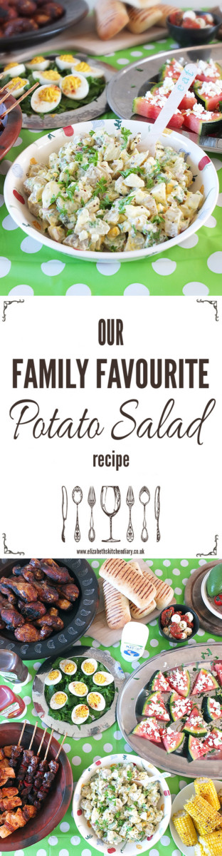 Our Family Favourite Potato Salad Recipe made with free-from Chippa May-O.