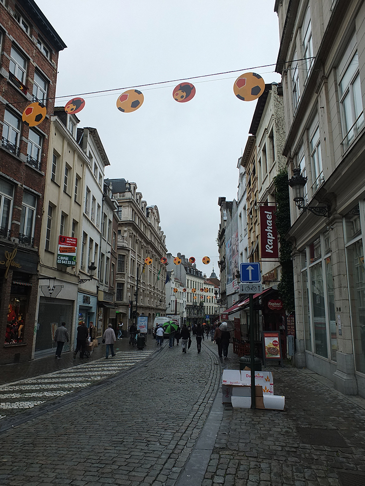 Brussels during the football