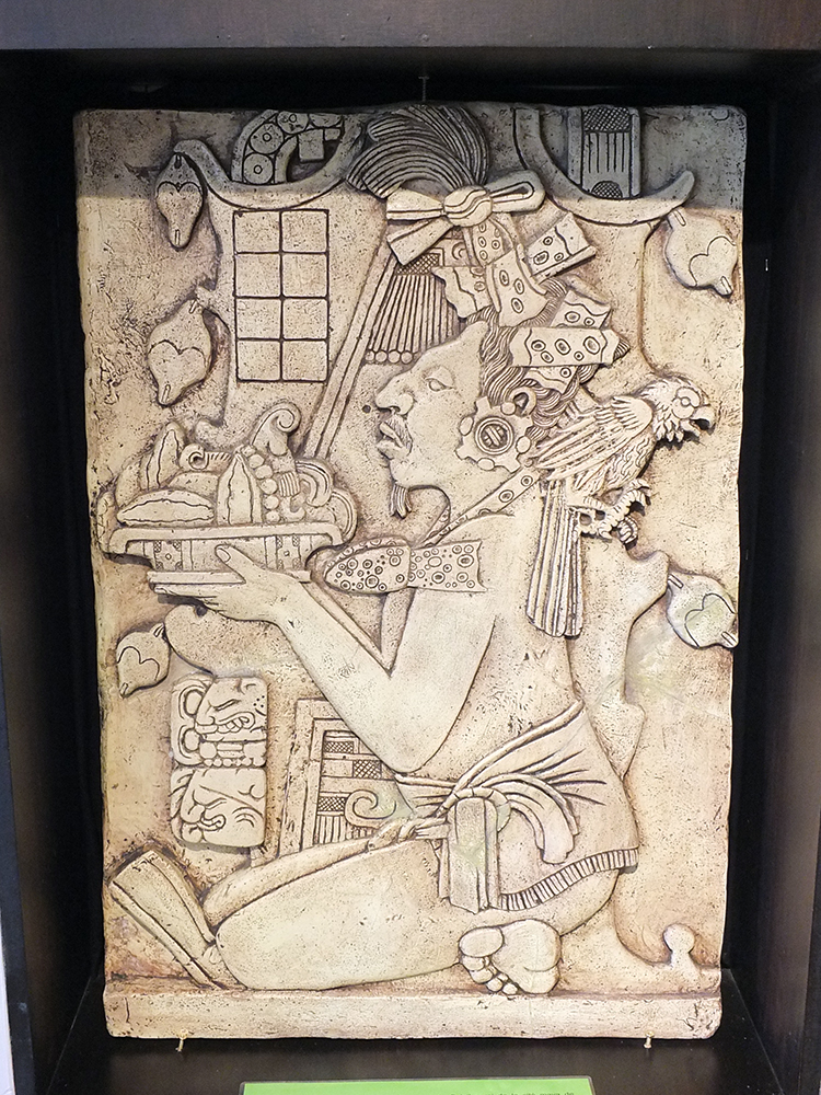 Mayan Chocolate Offering, Museum of Cocoa and Chocolate, Brussels