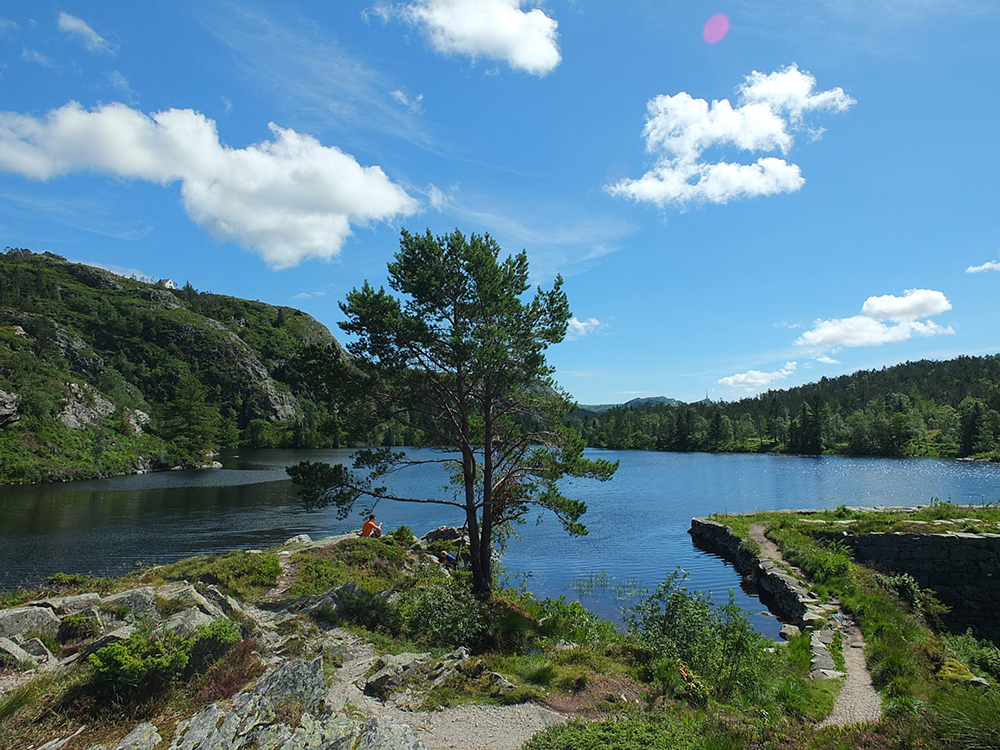 Storevatnet lake on Sandviksfjellet mountain, Bergen