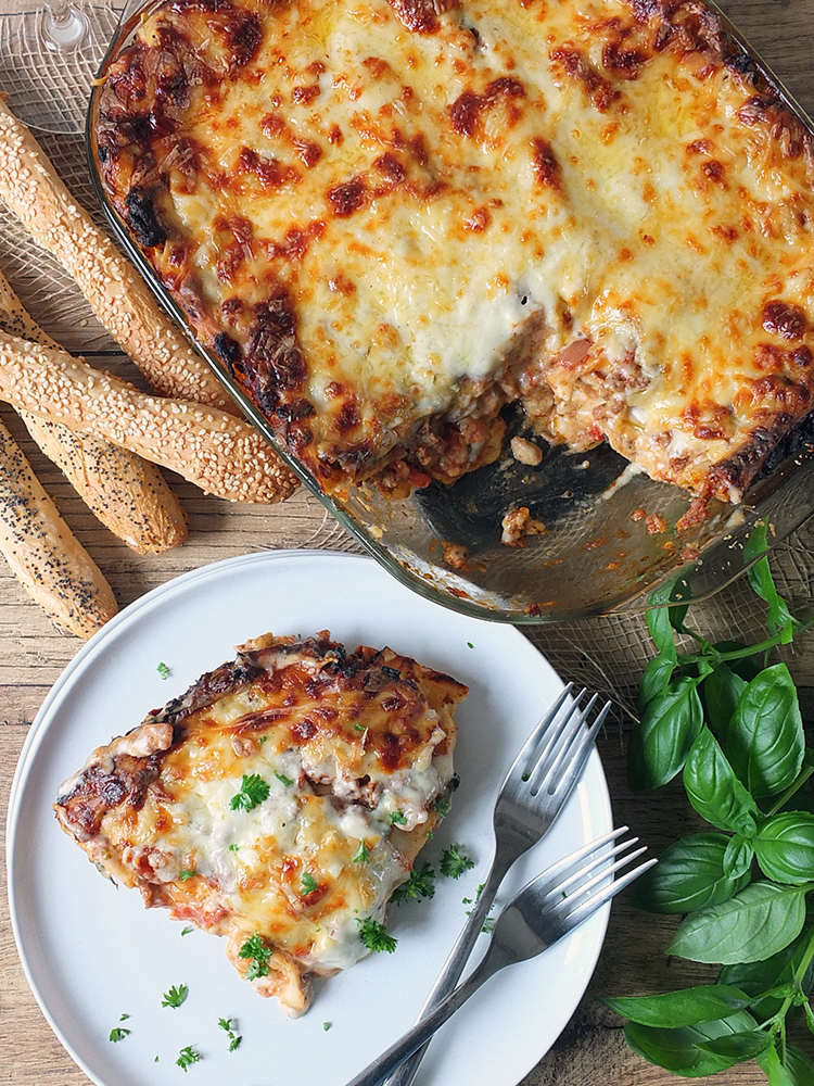 Beef Lasagne with Sun-dried Tomatoes and Orkney Smoked Cheddar