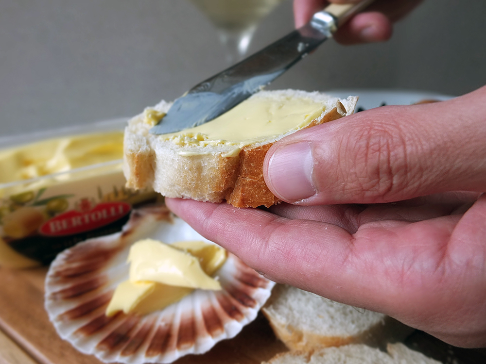 Bertolli with Butter in Scallop Shell