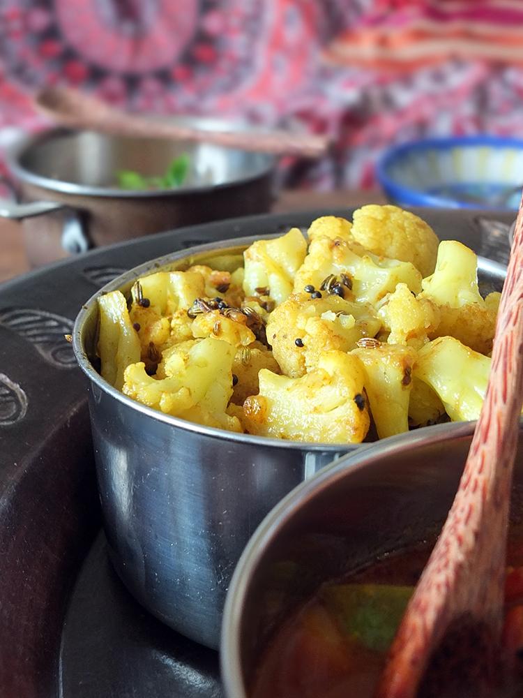 Cauliflower with Fennel and Mustard Seeds
