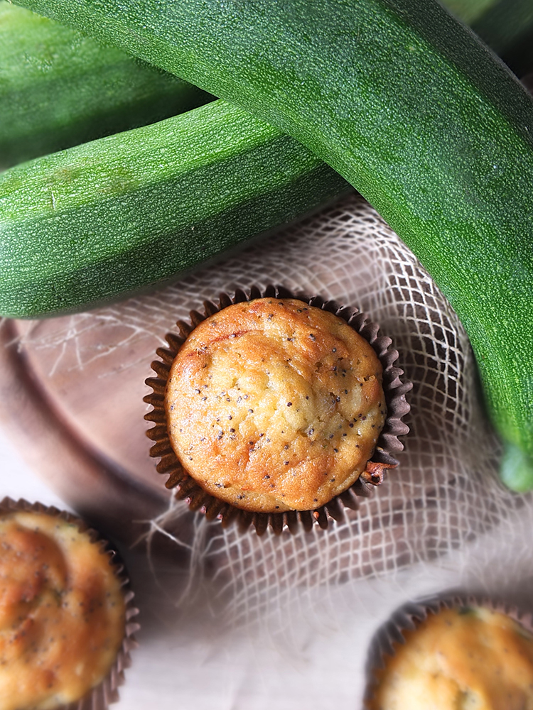 Courgette and Poppy Seed Muffins