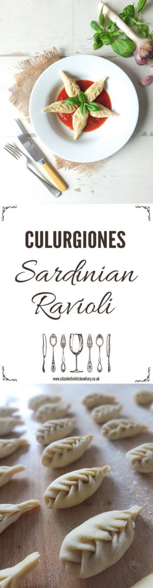 Culurgiones are traditional Sardinian dough pockets stuffed with potato and mint served with a simple tomato sauce. The trick to making them is in the stitching!