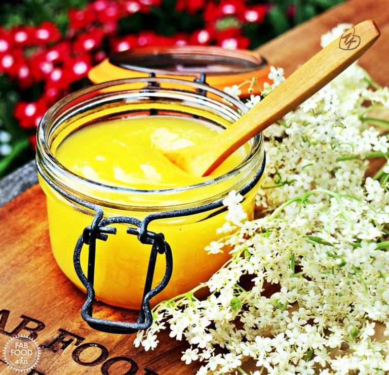 Elderflower Lemon Curd from Fab Food 4 All