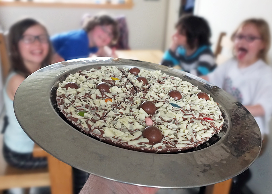 Chocolate Pizza recipe | Epicurious.com