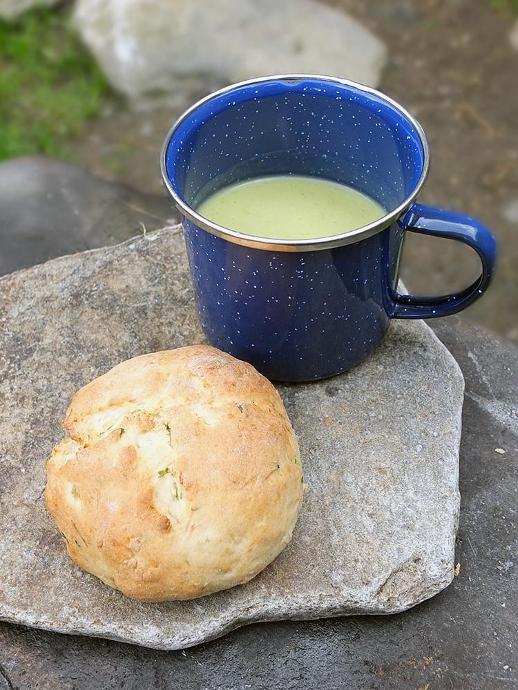 Herbed Potato Picnic Bannocks and Soup
