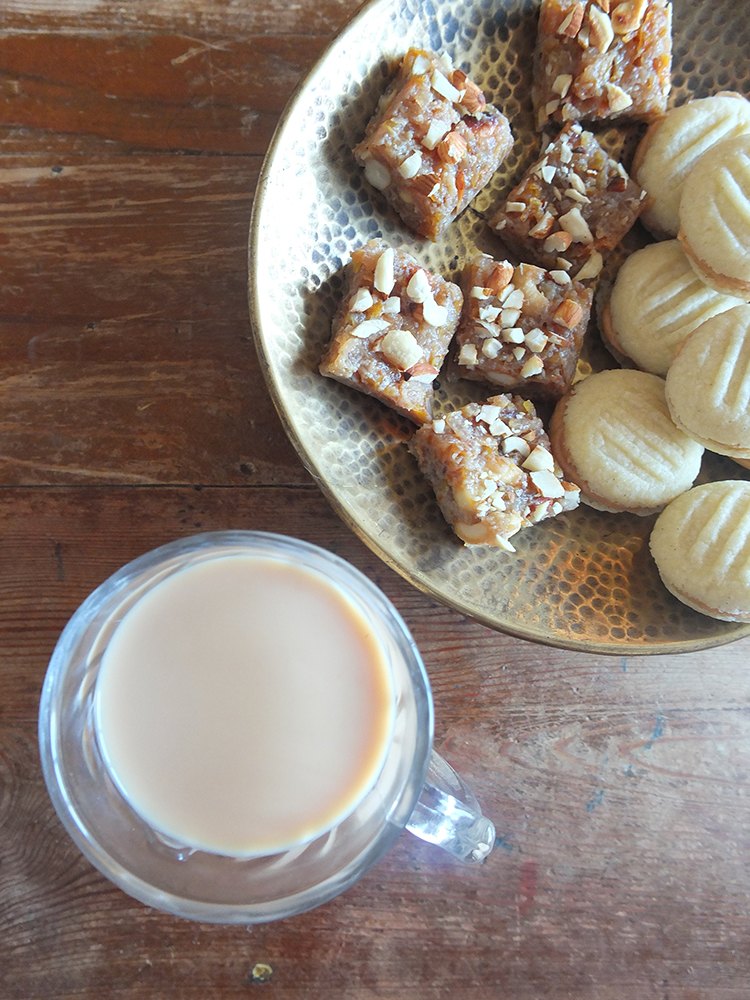 Indian Sweet Chai and Sweets