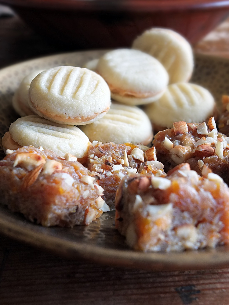 Indian Sweets - Carrot Halwa and Vanilla Chai Melting Moments