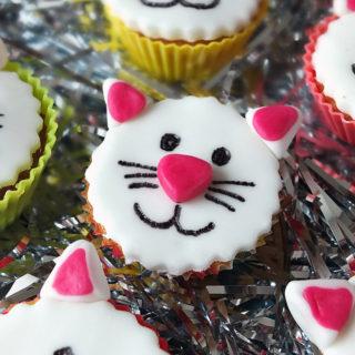 Kitty Cat Funfetti Fairy Cakes