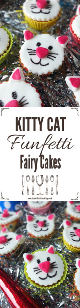 Kitty Kat Funfetti Fairy Cakes