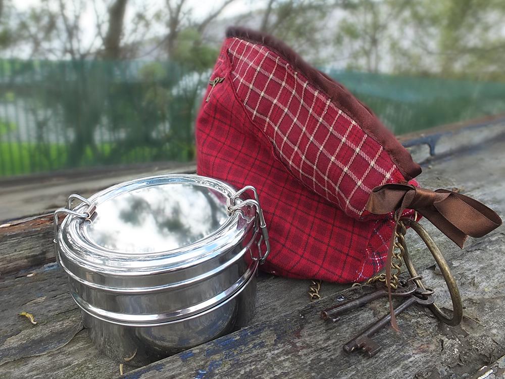 Lady Amelie's Steampunk Lunch Purse & a Tiffin Box