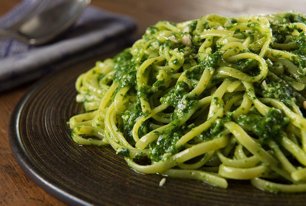 Linguine and Ligurian Pesto