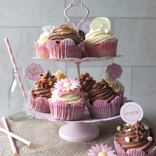 A Selection of Cupcakes for Afternoon Tea - One Recipe, Twelve Flavours
