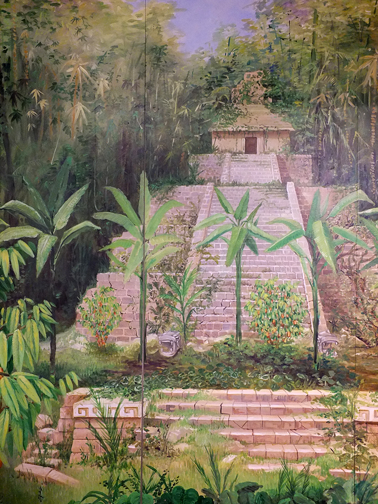 Aztec Temple Painting - The Cocoa Museum, Brussels
