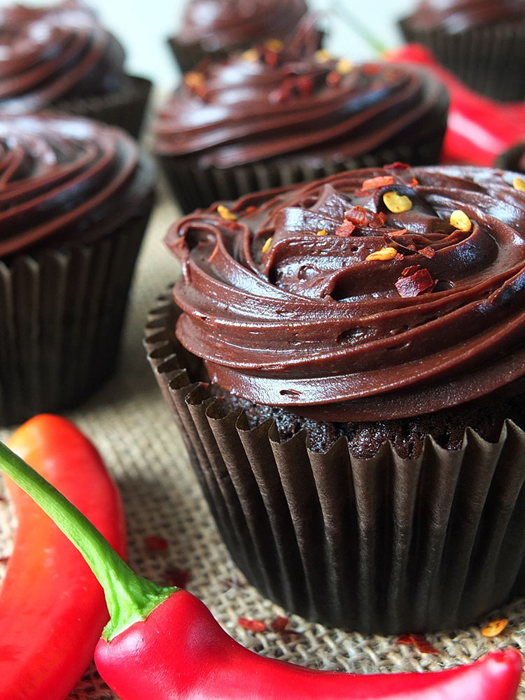 Chocolate and Chilli Cupcakes