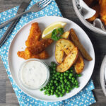Homemade Fish Fingers, Paprika-Spiked Potato Wedges & Tartare Sauce