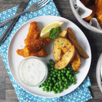 Homemade Fish Fingers, Paprika-Spiked Potato Wedges & Tartare Sauce