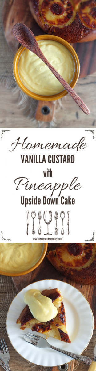Homemade Vanilla Custard with Pineapple Upside Down Cake - a Redmond Multicooker Recipe
