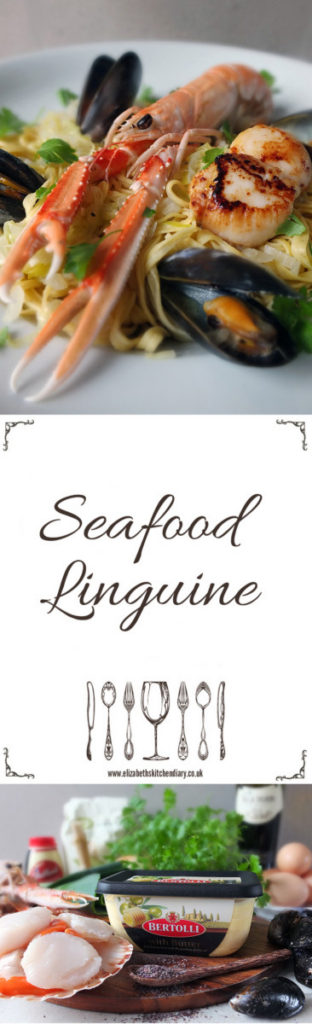 Seafood Linguine - made with fresh seafood and Bertolli with Butter