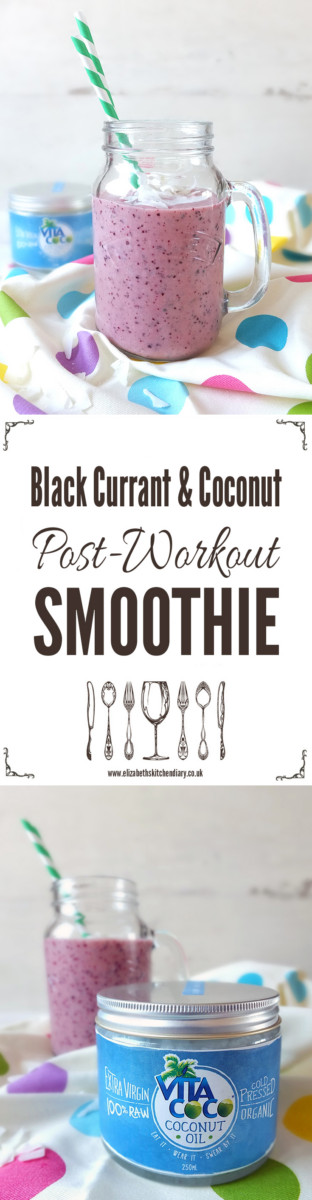 Blackcurrant & Coconut Post-Workout Smoothie