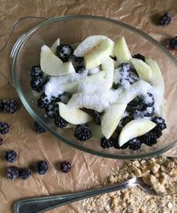 Blackberry & Apple Crumble by Farmersgirl Kitchen