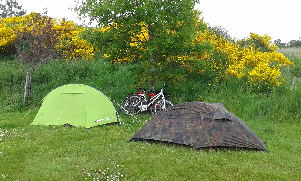 Camping in Lairg, Scotland