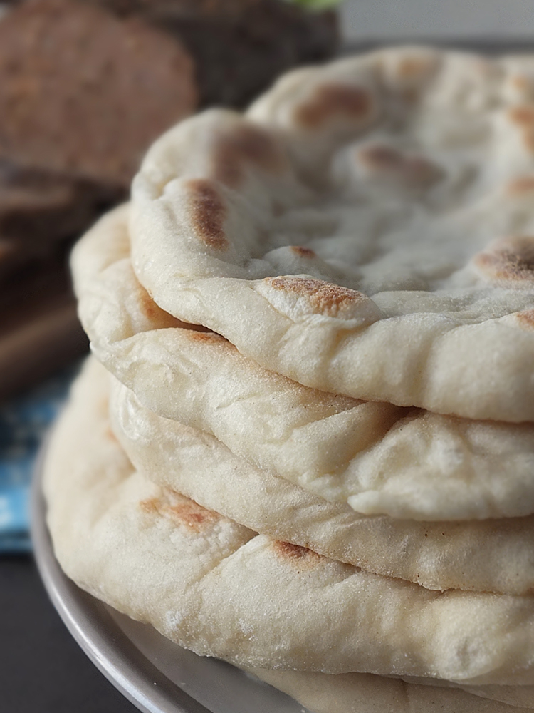 Homemade Greek flatbreads