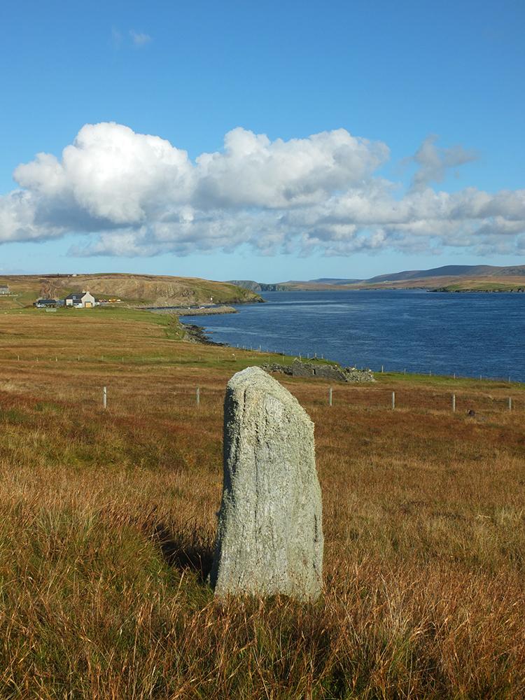 Gutcher Standing Stone, Yell, Shetland
