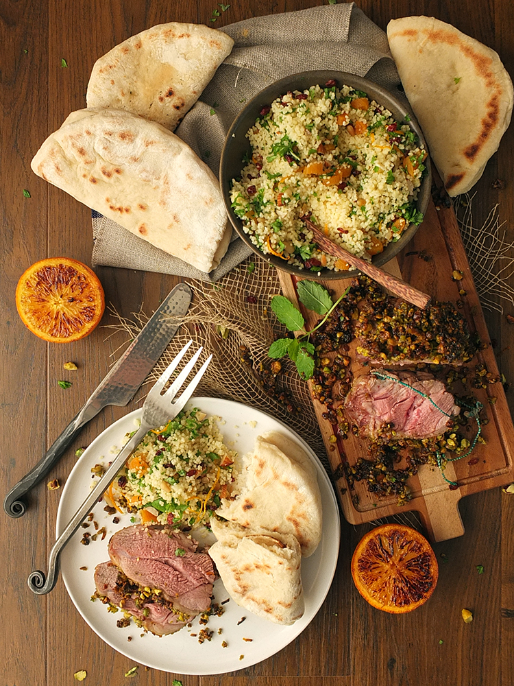 Pistachio and Orange Crusted Lamb #MiniRoast Shoulder