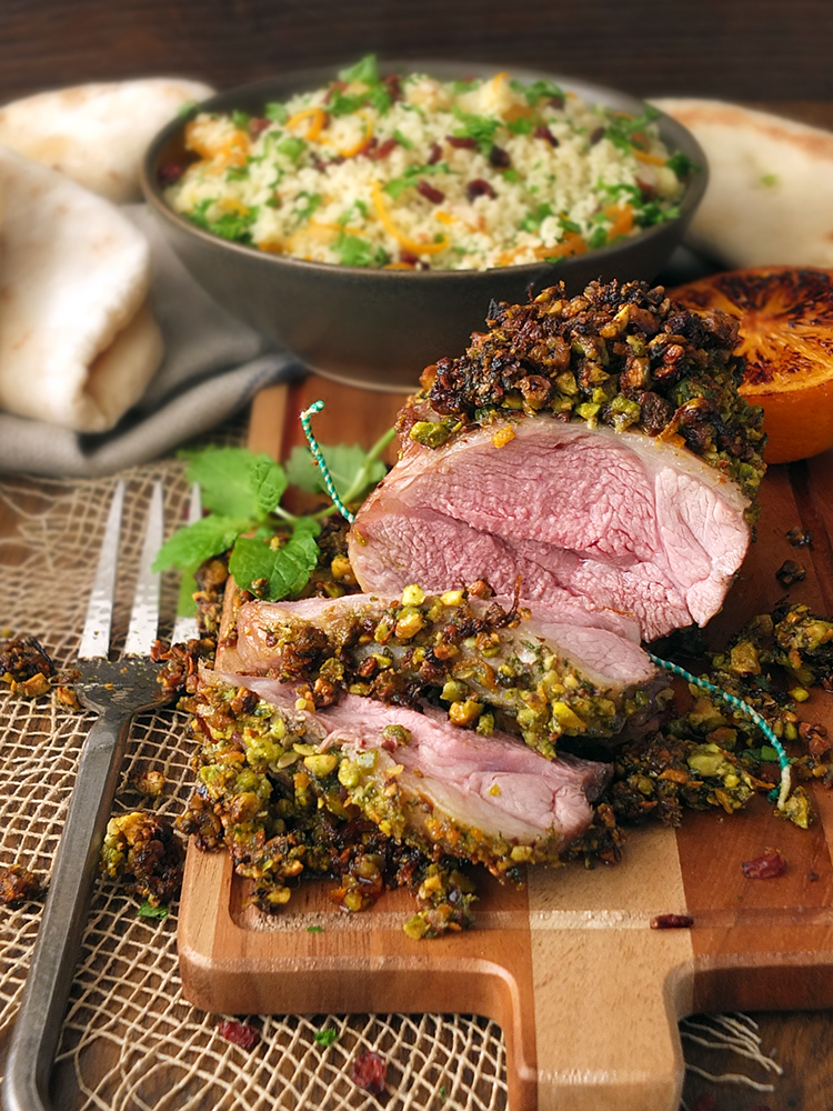 Pistachio and Orange Crusted Lamb #MiniRoast Shoulder
