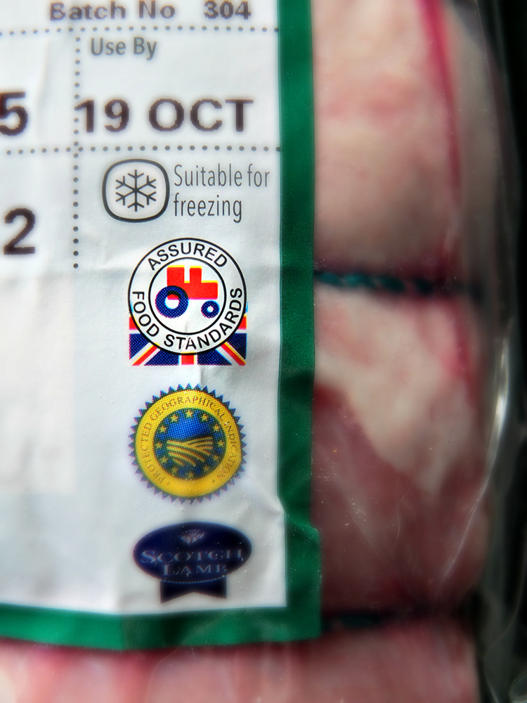 Look out for the Red Tractor Logo when choosing cuts of British meat