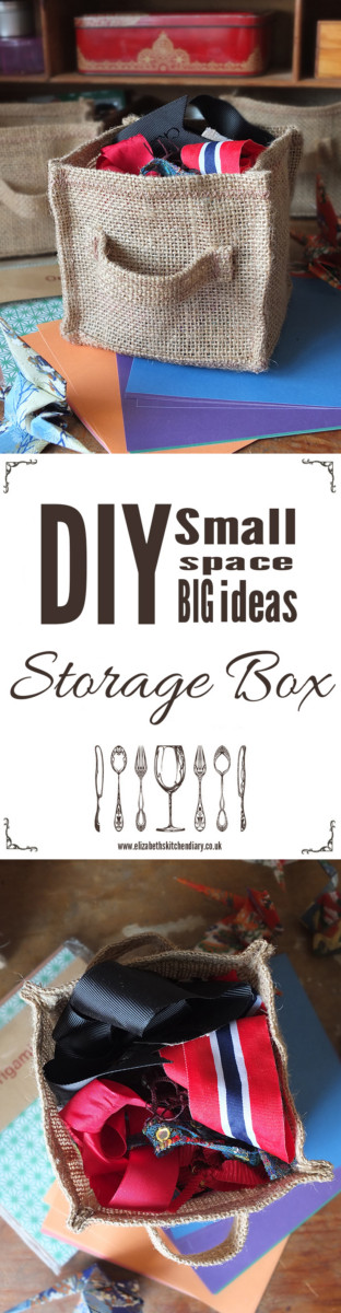 DIY small storage boxes - organize your craft supplies with these quick and easy hand made boxes