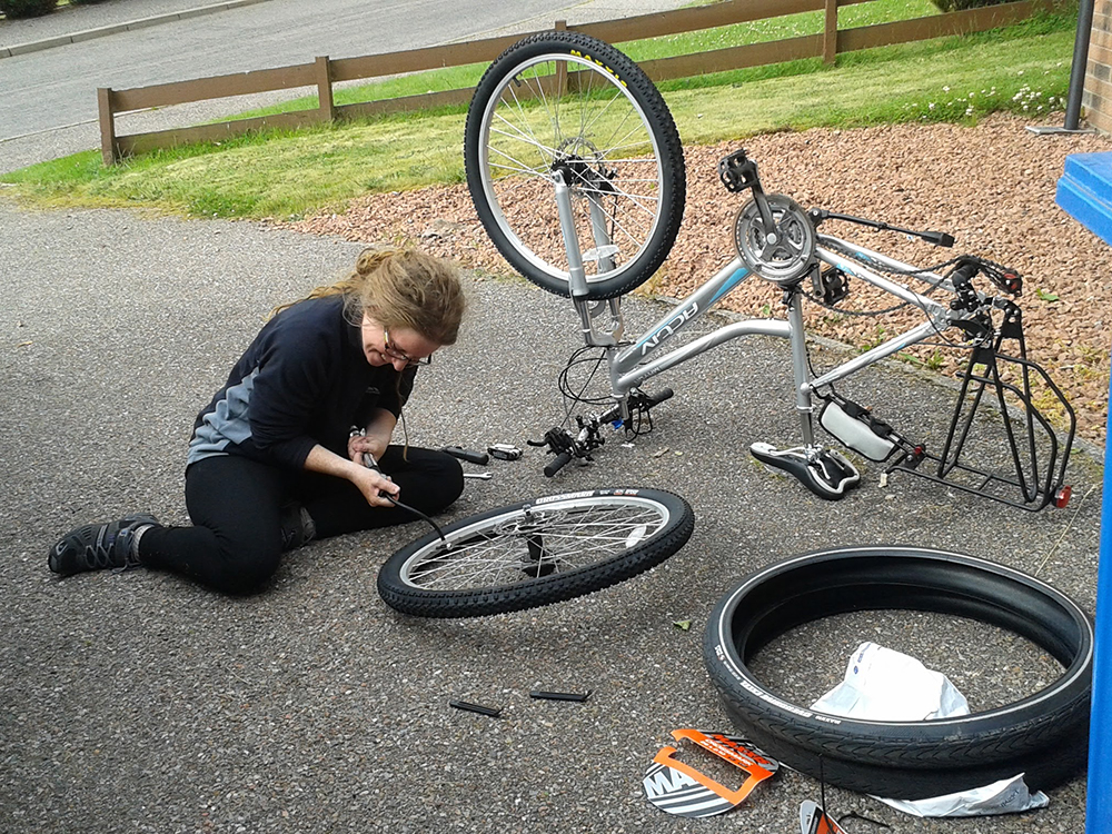 Bicycle Wheel Change