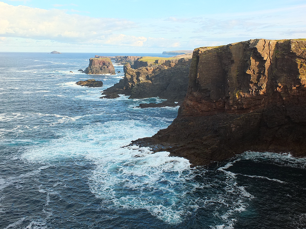 The volcanic cliffs of Eshaness, Shetland Islands