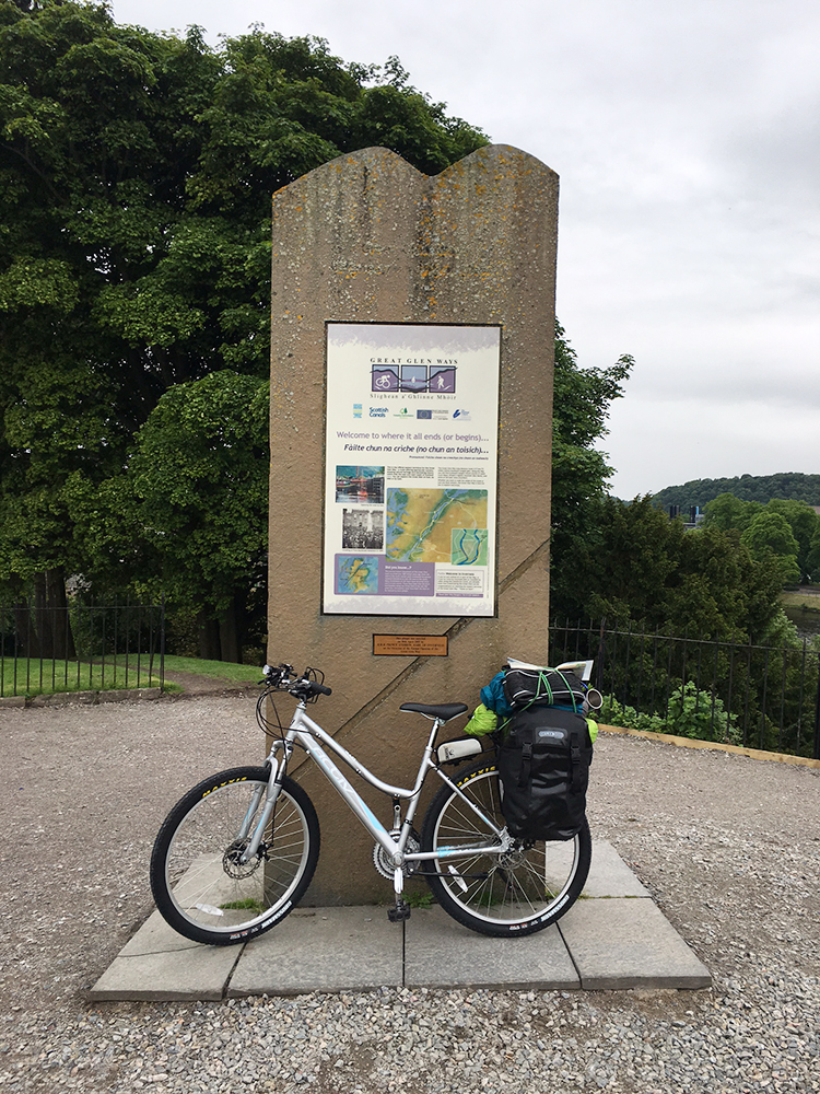 The Great Glen Way Marker in Inverness